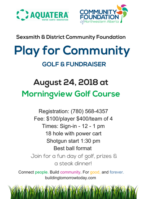 2018 Sexsmith Golf Tourney Invitation