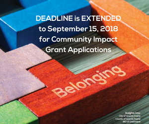 Community Impact Grants deadline extended Web